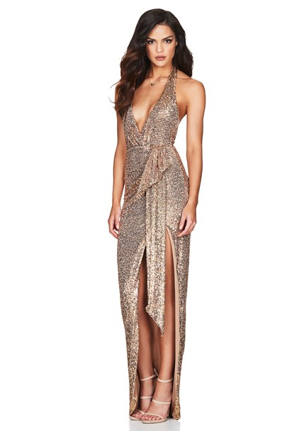 buy the latest Selena Halter Gown online