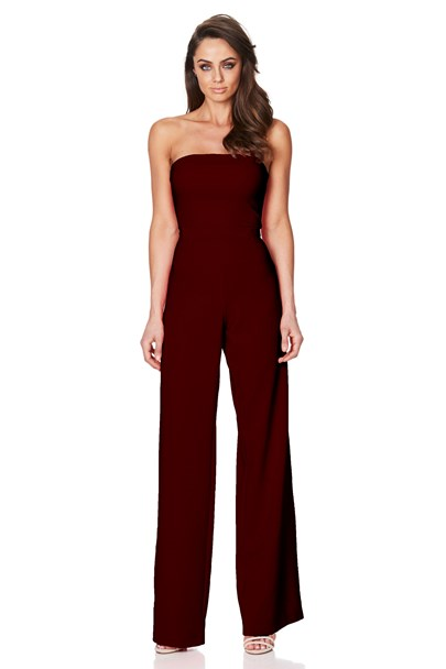 buy the latest Glamour Jumpsuit Wine online